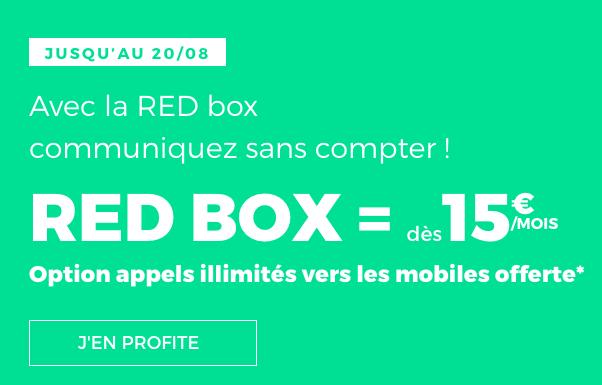 La box internet à petit prix de RED by SFR, en ADSL ou fibre optique.