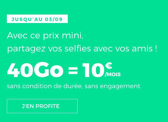 La 4G à Gogo avec 40 Go pour un forfait pas cher de RED by SFR.