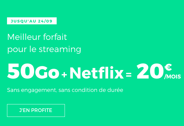 REd by SFR permet d'accéder à un forfait pas cher avec Netflix.