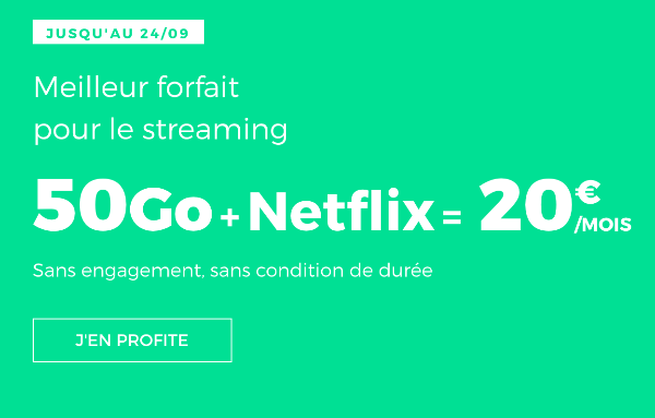 RED by SFR Promotion forfait 50 Go Netflix.