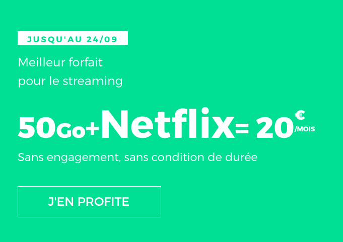 Netflix ou pas, ce forfait pas cher en promotion avec 50 Go en 4G est un bon plan de RED by SFR.