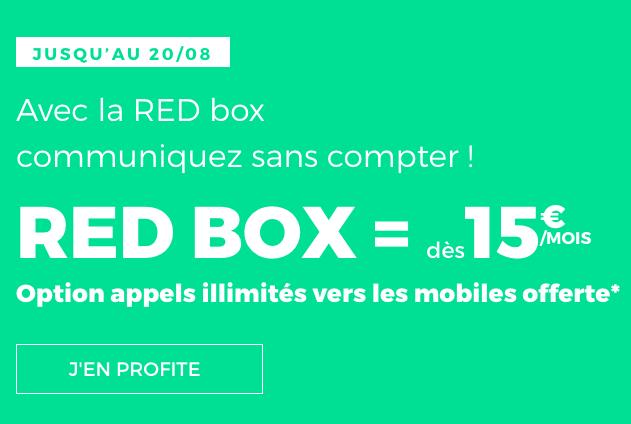 Une box internet ADSL ou fibre optique à bas prix chez RED by SFR.