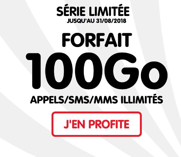 NRJ mobile code promo forfait mobile 100 Go promotion.