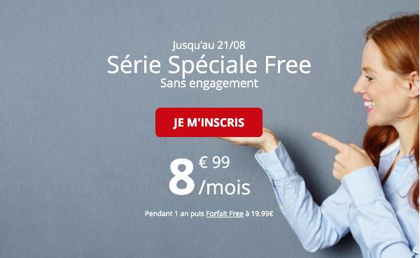 Forfait mobile série spéciale Free 50 Go 4G pas cher