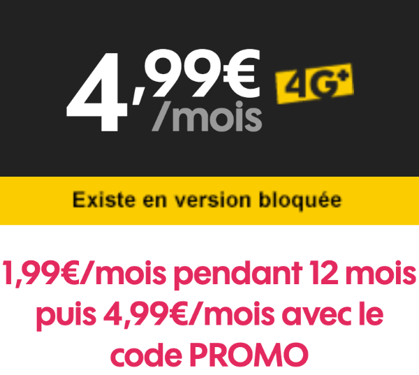Sosh forfait mobile bloqué code promo.