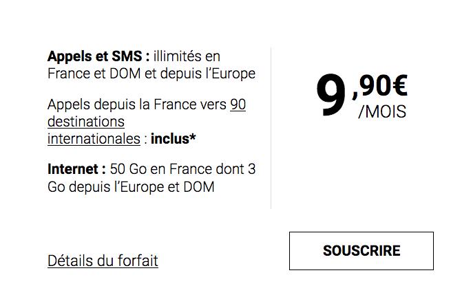 Syma Mobile, sans engagement, propose un forfait mobile pas cher avec 50 Go d'Internet.