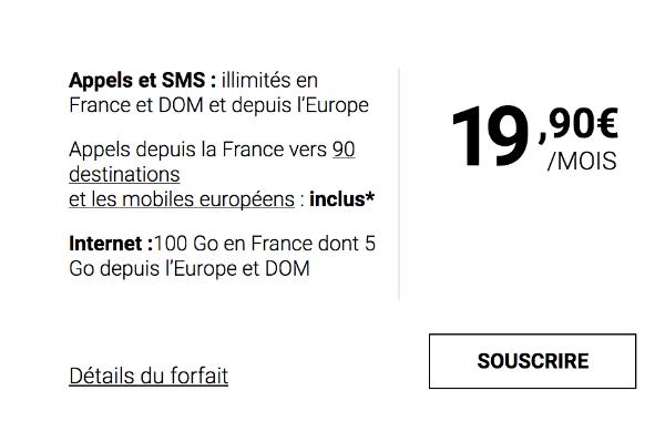 Syma Mobile forfait 100 Go illimité