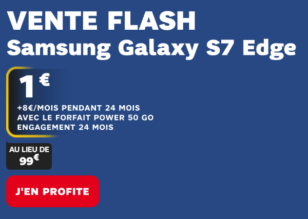 SFR Vente flash Galaxy S7 Edge Power 50 Go