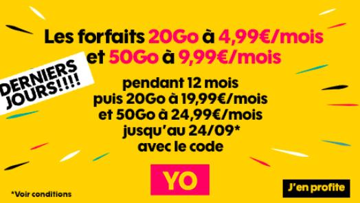 Ls promotions de Sosh avec le code YO.