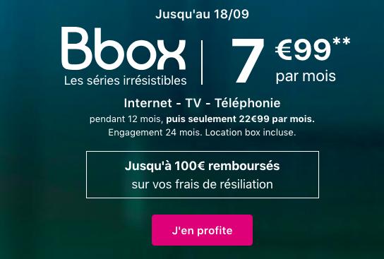 la Bbox à 7,99€ de Bouygues Télécom.