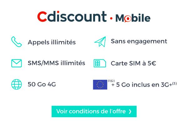 Les services de l'offre de Cdiscount Mobile.