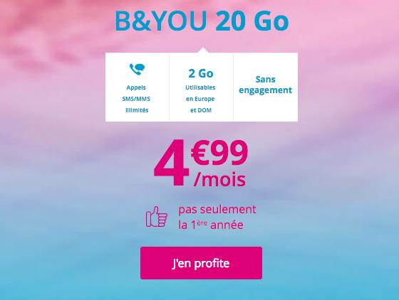 Choisir l'offre à 5€ de B&YOU.