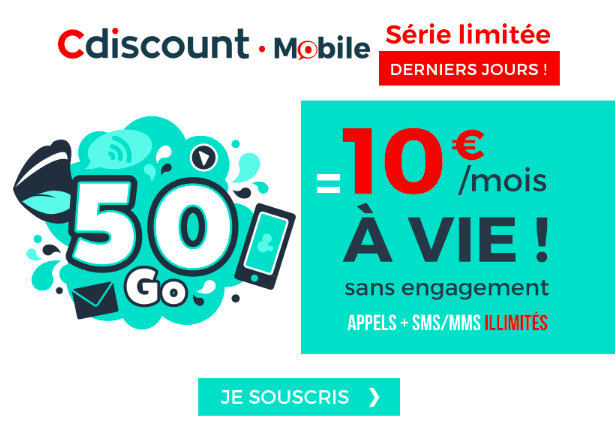 Forfait Cdiscount Mobile.