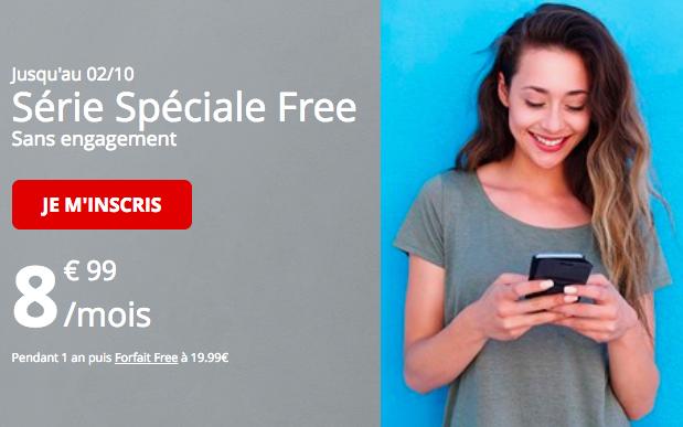 L'offre 60 Go à 8,99€ de Free Mobile.