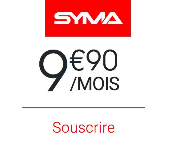Le forfait 50 Go de Syma Mobile.