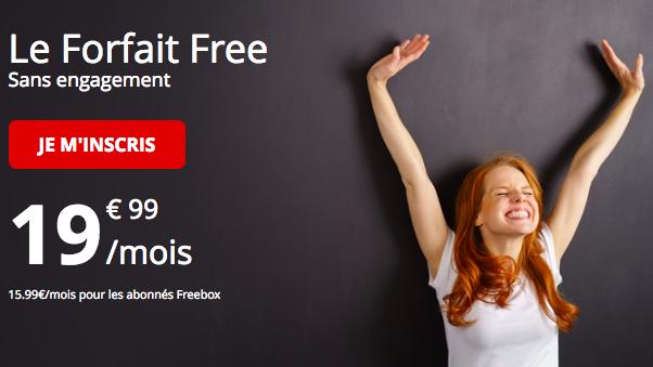 Le forfait 100 Go de Free Mobile.