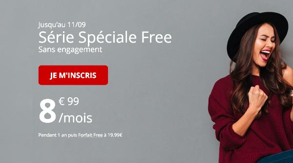 Forfait mobile Free sans engagement promotion