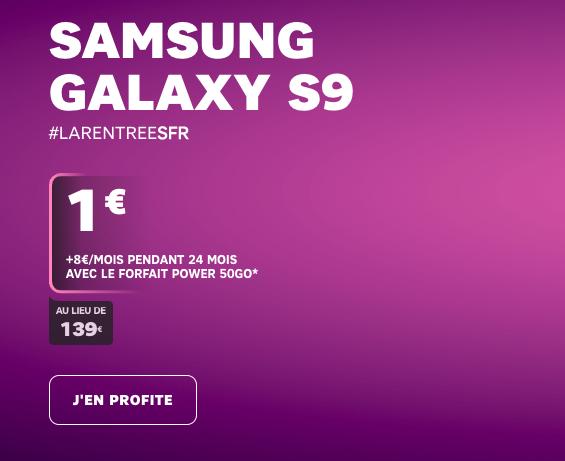 Samsung Galaxy S9 de SFR.