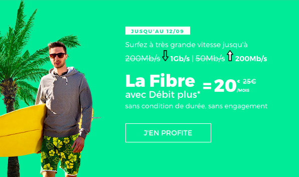 La fibre optique avec RED by SFR.