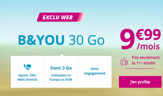 Le forfait mobile de Bouygues Telecom, sans engagement, pour naviguer avec 30 Go en 4G sur son iPhone XS ou XS Max.