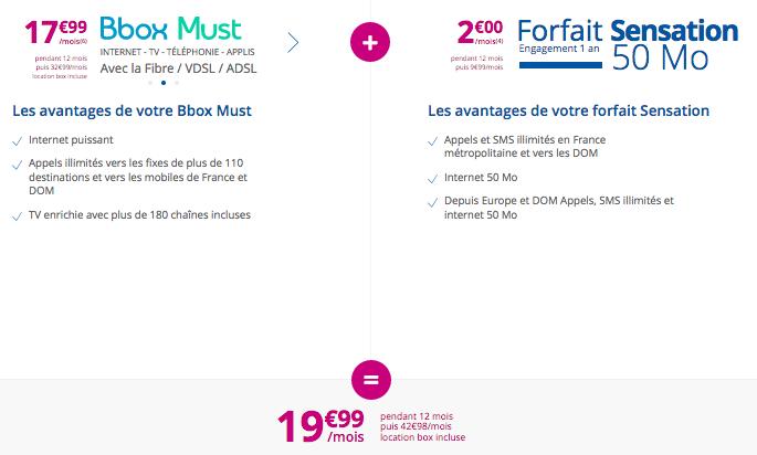 Bouygues Telecom permet de souscrire à une box internet et un forfait mobile à bas prix.