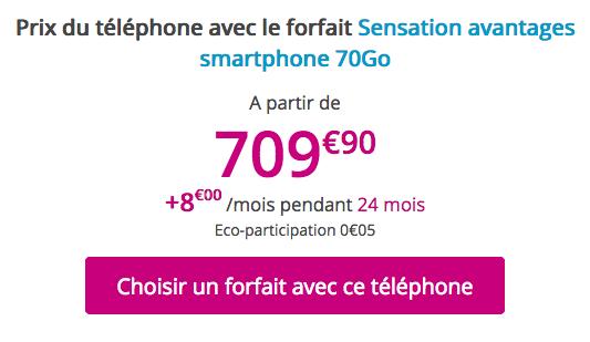 L'iPhone XS Max à bas prix avec un forfait mobile Sensation 70 Go chez Bouygues Telecom.