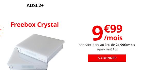 La Freebox Crystal de Free