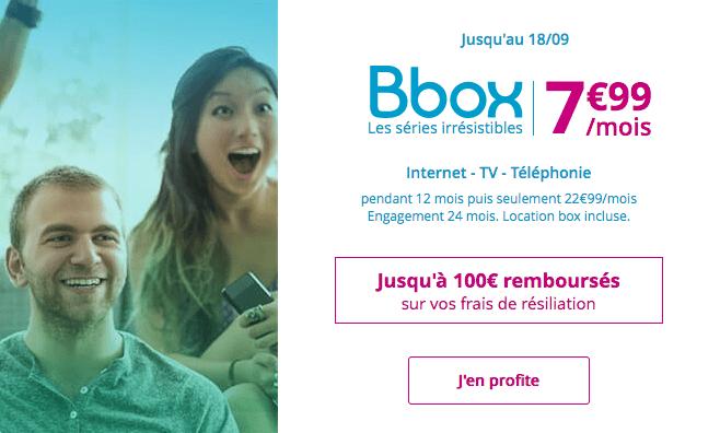 Promotion Bbox box internet ADSL pas chère.