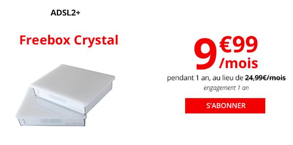 La box internet Freebox Crystal ADSL de Free