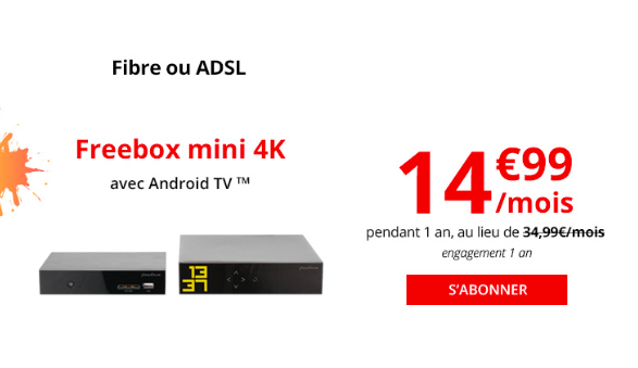 La box internet Freebox Mini 4K de Free