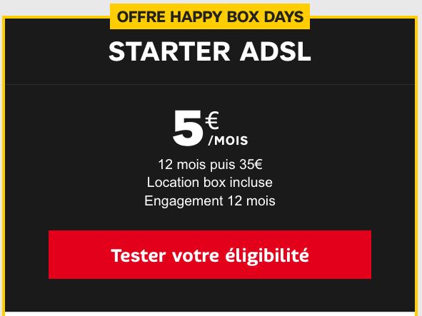 La box internet Starter de SFR en ADSL à bas prix.