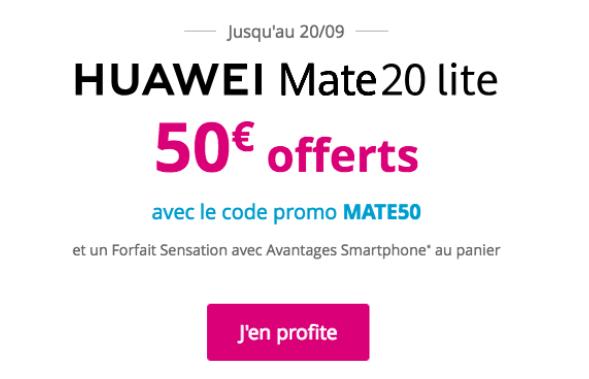 Quel code promo pour le Mate 20 Lite chez Bouygues Telecom ?