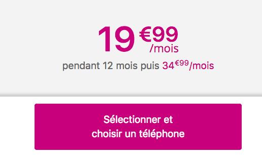 Le forfait illimité pas cher de Bouygues Telecom Sensation 50 Go avec un smartphone.