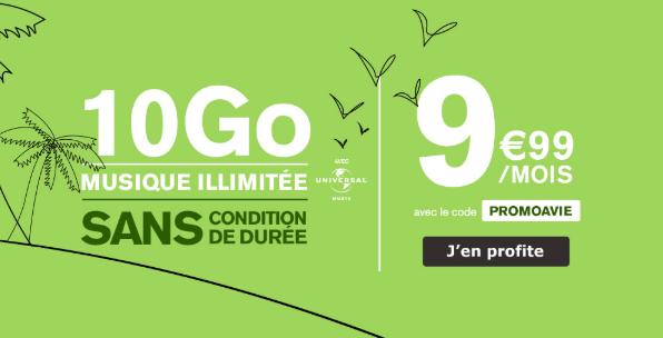 Le forfait 4G 10 Go de La Poste Mobile.