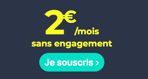 Le forfait 2 euros de Cdiscount Mobile.