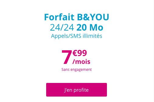 Le forfait bloqué illimité de B and YOU