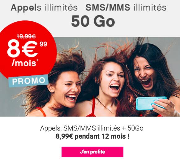la promo Coriolis Télécom pour un forfait pas cher 50 Go
