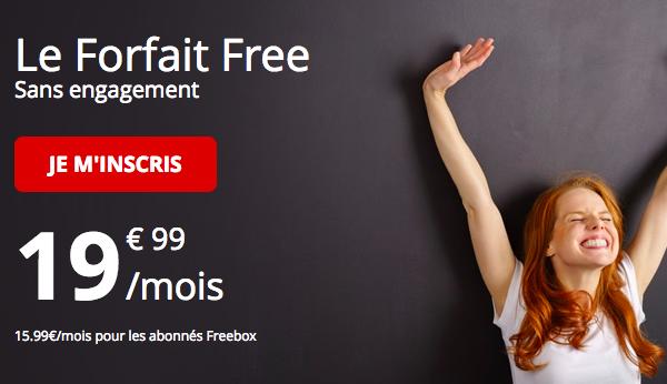 Le forfait Free 100 Go à 19,99€ par mois