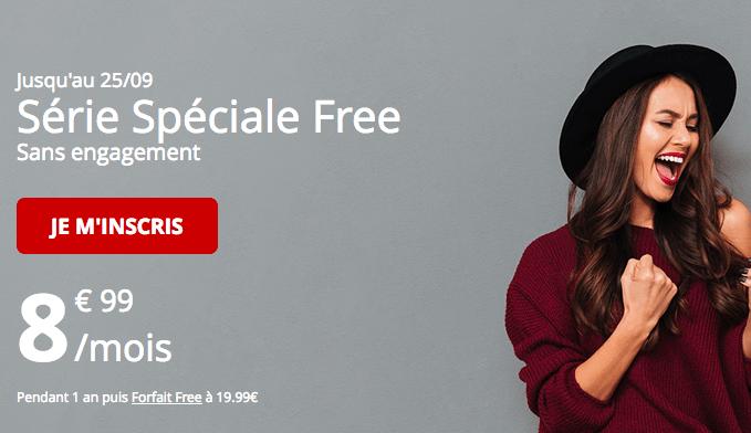 Free mobile prolongation promotion forfait 60 Go.