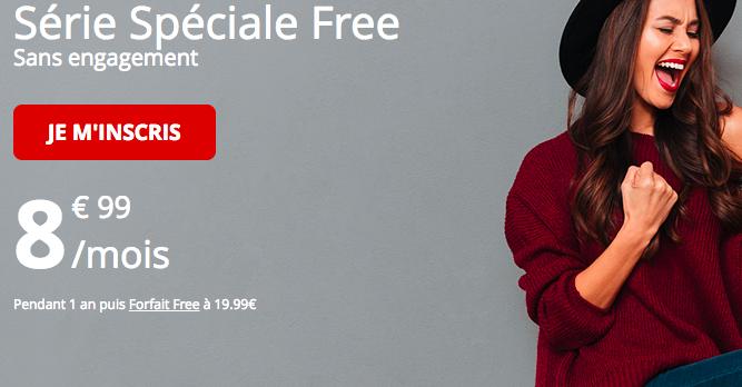 Le forfait pas cher série spéciale de Free