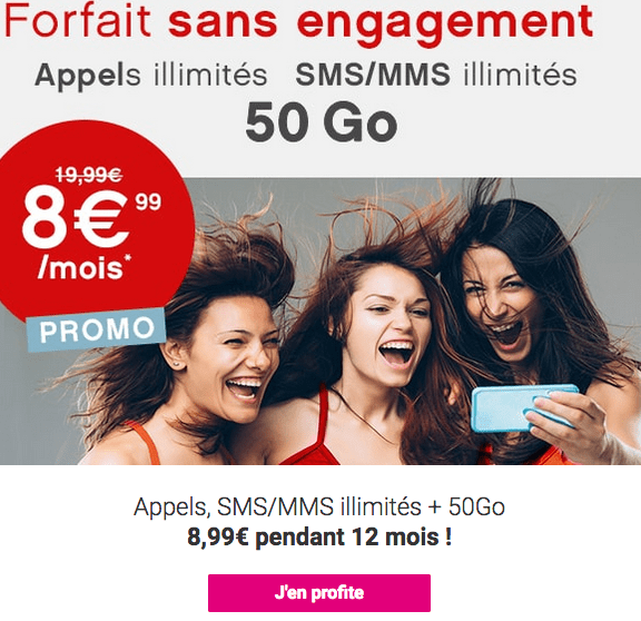 Forfait mobile 4G Coriolis Télécom promotion.