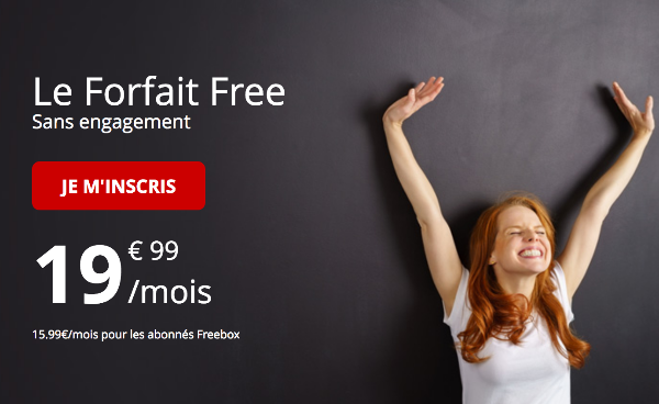 Le Forfait Free classique tout illimité 100 Go 4G.