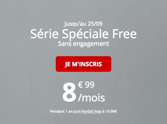 Forfait Free série spéciale promotion 60 Go 4G.