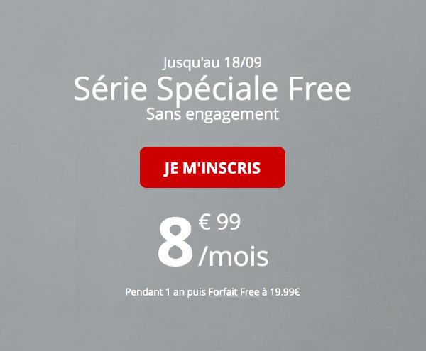 Forfait mobile tout illimité Free série spécial 60 Go 4G.