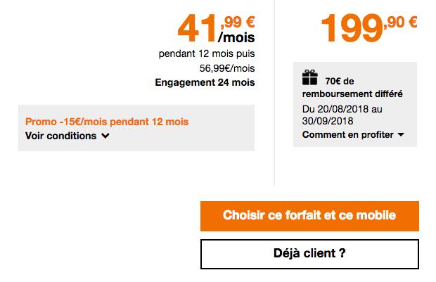 French days promotion Galaxy S9 Plus de Samsung avec forfait Play 40 Go Orange.