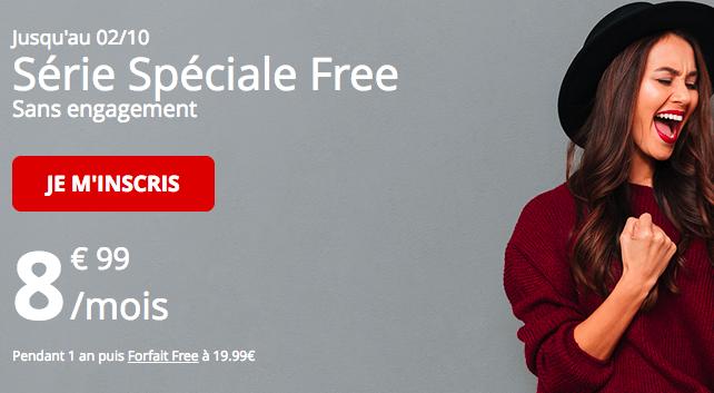Le forfait Free mobile 60 Go en promo.