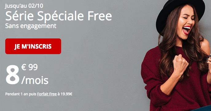 Forfait Free mobile série spéciale promo.