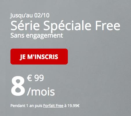Le forfait pas cher de Free Mobile en promotion.