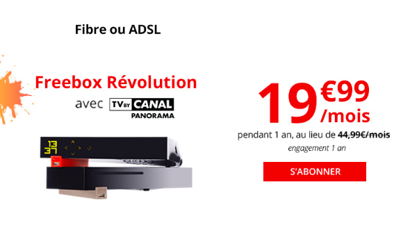 La Freebox Révolution box internet de Free