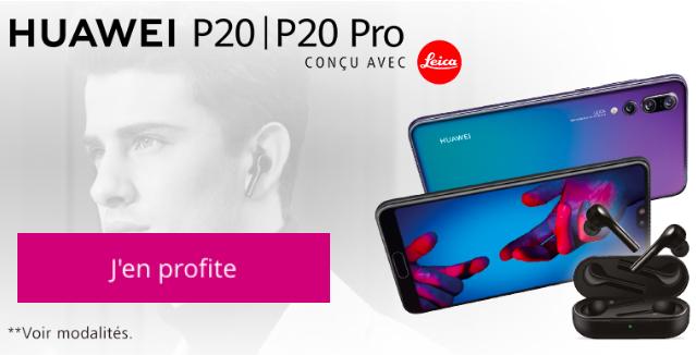 Les Freebuds offerts avec Le Huawei P20 chez Bouygues